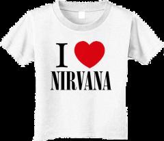 Nirvana T-shirt voor kinderen - I love Nirvana (Clothing)