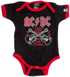 ACDC Baby romper Guitar Cross