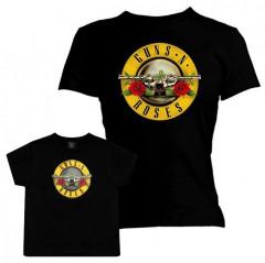 Duo Rockset Guns N' Roses mama t-shirt & Guns N' Roses kids T-shirt