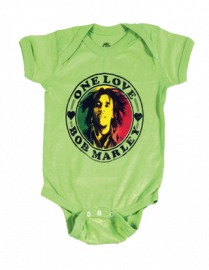 Bob Marley Baby romper One Love Lime