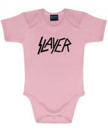 Slayer Baby Romper Logo Pink