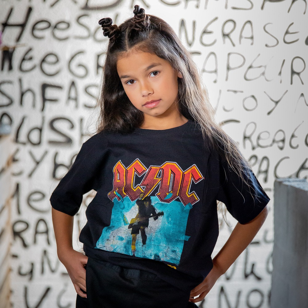 AC/DC Kids T-shirt Blow Up Your Video ACDC fotoshoot
