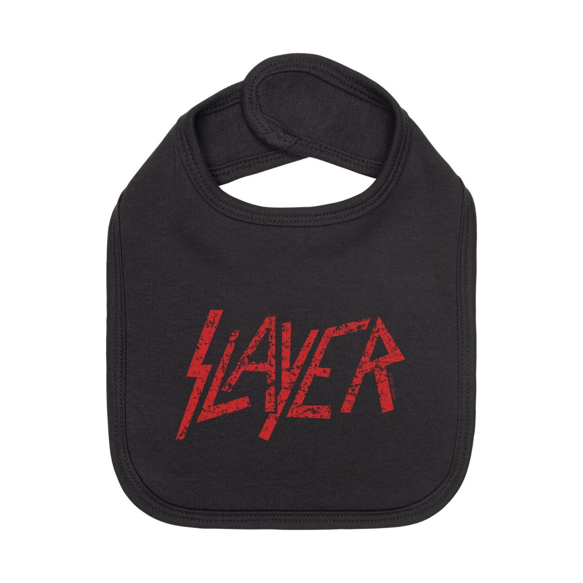 Slayer baby slabbertje rood Logo