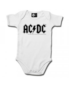 AC/DC Baby Romper AC/DC White ACDC