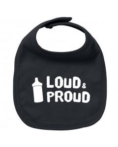 Rock baby bib loud & proud