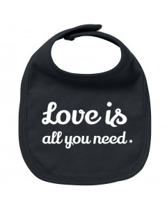 Rock baby bib love is all you need