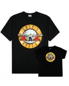 Duo Rockset Guns 'n Roses papa t-shirt & kinder t-shirt