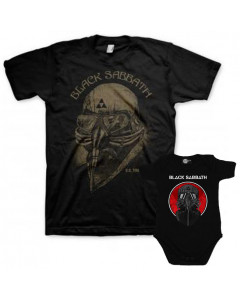 Duo Rockset Black Sabbath papa t-shirt & Black Sabbath baby romper