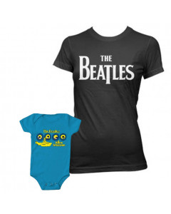 Duo Rockset The Beatles mama t-shirt & The Beatles baby romper Portholes