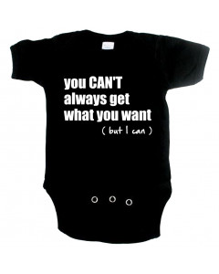 coole baby romper you cant always get what you want but I can