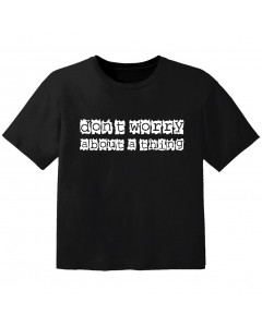cool baby t-shirt don't worry about a thing