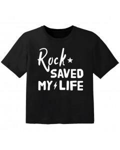 rock baby t-shirt rock saved my life