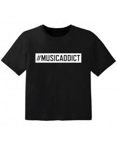 coole kinder t-shirt #musicaddict